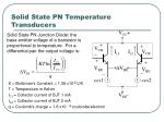 solid state pn temperature transducers
