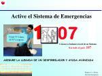 active el sistema de emergencias
