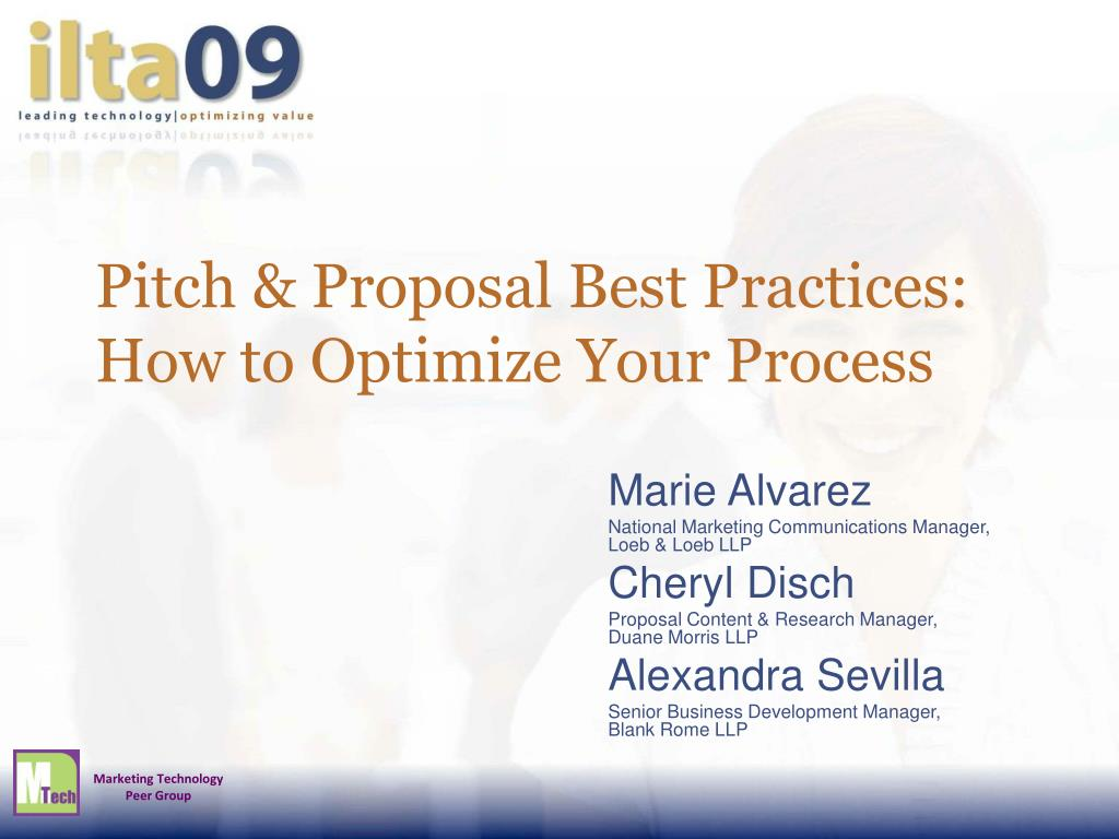 pitch proposal best practices how to optimize your process l.