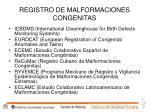 registro de malformaciones congenitas