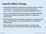 cognitive milieu therapy