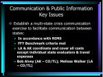 communication public information key issues