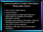 communication public information measurable action