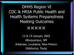 dhhs region vi cdc hrsa public health and health systems preparedness meeting outcomes