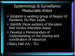 epidemiology surveillance measurable action