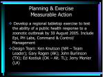 planning exercise measurable action