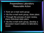 preparedness laboratory measurable action