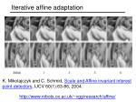 iterative affine adaptation