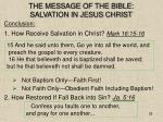 the message of the bible salvation in jesus christ28
