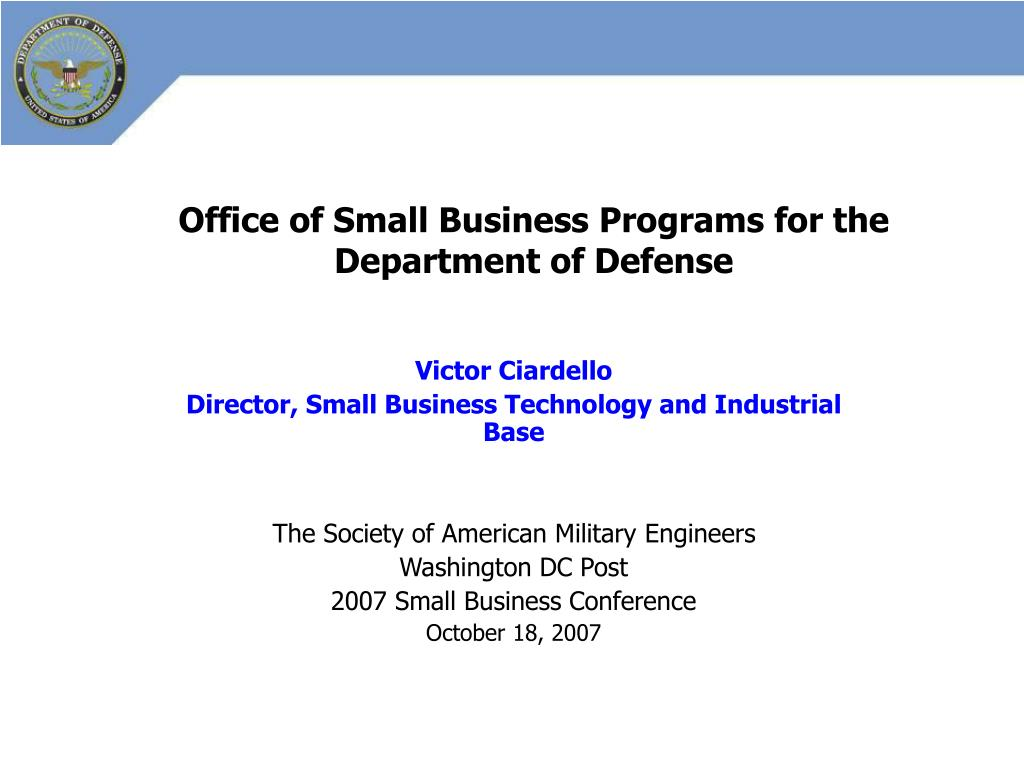 office of small business programs for the department of defense l.