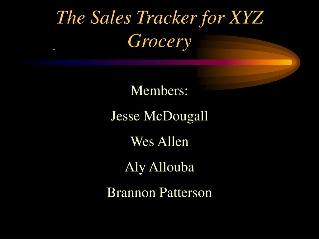 the sales tracker for xyz grocery l.