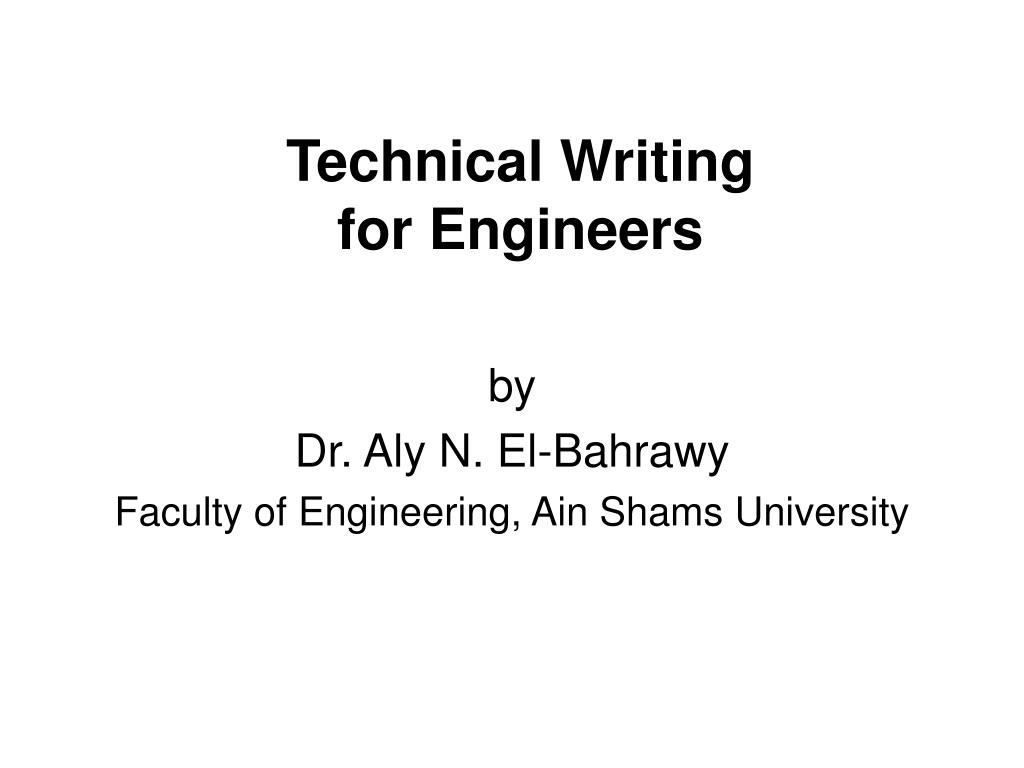 technical writing for engineers l.