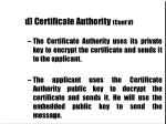 d certificate authority cont d25