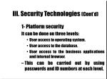 iii security technologies cont d12