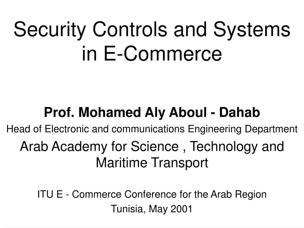 security controls and systems in e commerce l.