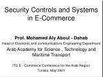security controls and systems in e commerce