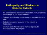 retinopathy and blindness in diabetes patients