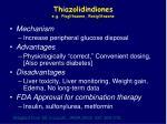 thiazolidindiones e g pioglitazone rosiglitazone