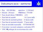 indicateurs socio sanitaires
