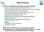 abcd findings