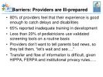 barriers providers are ill prepared