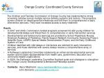 orange county coordinated county services