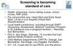 screening is becoming standard of care
