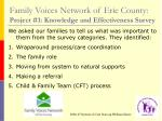 family voices network of erie county project 1 knowledge and effectiveness survey29