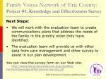 family voices network of erie county project 1 knowledge and effectiveness survey30