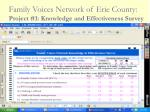 family voices network of erie county project 1 knowledge and effectiveness survey31