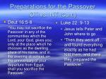 preparations for the passover ot vs nt cont