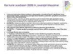 kai kurie svarbesni 2008 m svarstyti klausimai