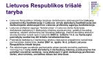 lietuvos respublikos tri al taryb a