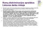 rom diskriminacijos aprai kos lietuvos darbo rinkoje