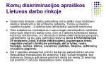 rom diskriminacijos aprai kos lietuvos darbo rinkoje1