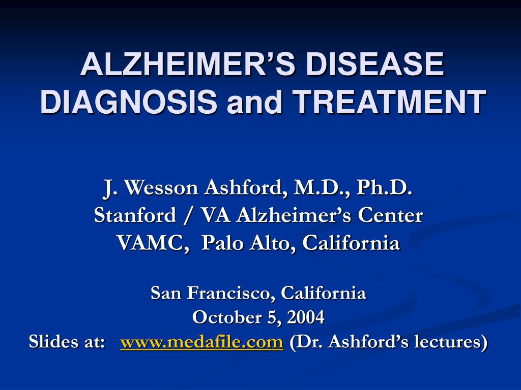 alzheimer s disease diagnosis and treatment l.