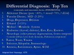 differential diagnosis top ten commonly used mnemonic device avdementia