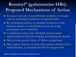 reminyl galantamine hbr proposed mechanisms of action