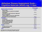 alzheimer disease assessment scale cognitive subscale adas cog 11 item