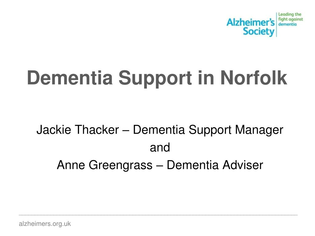dementia support in norfolk l.