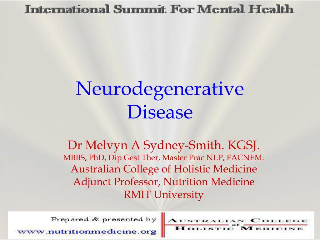 neurodegenerative disease l.