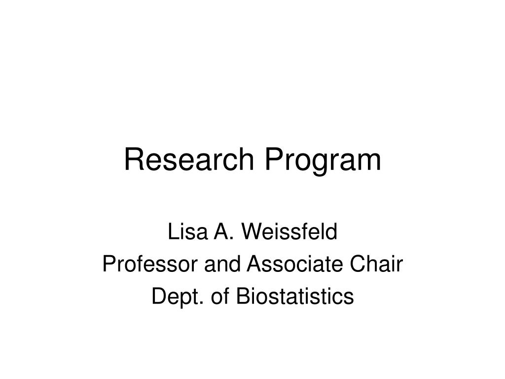 research program l.