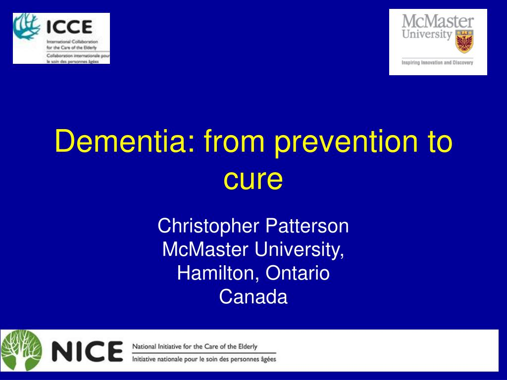 dementia from prevention to cure l.