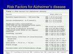 risk factors for alzheimer s disease8