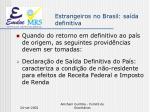 estrangeiros no brasil sa da definitiva