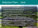 ballydine plant facts