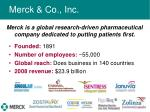 merck co inc