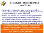 conceptualizaci n del problema del insider trading