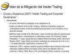 valor de la mitigaci n del insider trading