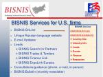 bisnis services for u s firms